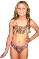 Baku Girls Siciliana Frill Crop Set