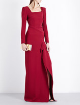 Roland Mouret Asymmetric structured crepe gown