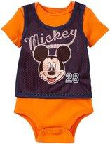 Disney Mickey Athletic Creeper (Baby) - Orange-3-6 Months