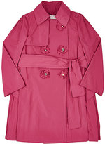 Lanvin FLORAL DOUBLE-BREASTED TRENCH COAT-PINK SIZE 10