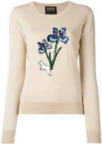 Markus Lupfer sequin floral bunny jumper