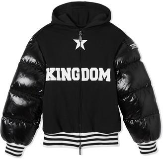 BURBERRY KIDS Puffer-Sleeve Hooded Jacket
