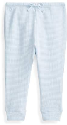 Ralph Lauren Waffle-Knit Cotton Pant