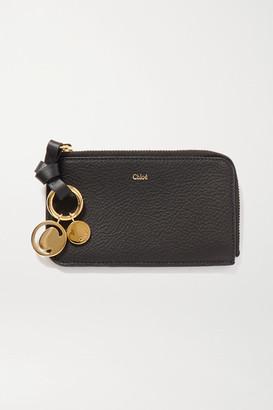 Chloé Alphabet Textured-leather Wallet - Black