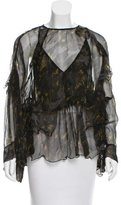 IRO Sheer Abstract Print Top w/ Tags