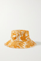 Thumbnail for your product : Zimmermann Printed Linen-twill Bucket Hat - Orange