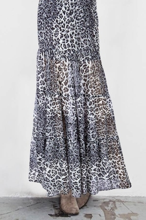 Blu Moon Almost Famous Skirt in Black Leopard