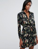 Oasis Floral Print Pajama Shirt Dress