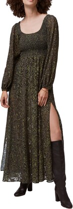 French Connection Aury Smocked Long Sleeve Maxi Dress