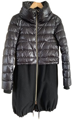 Herno Black Wool Coats