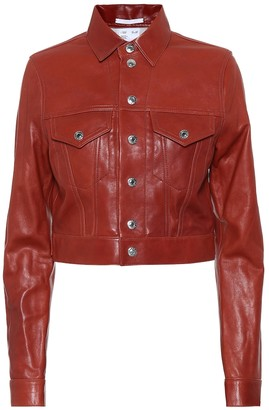 Helmut Lang Fem Little leather jacket