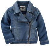 Osh Kosh Knit-Like Denim Moto Jacket - Branson Blue