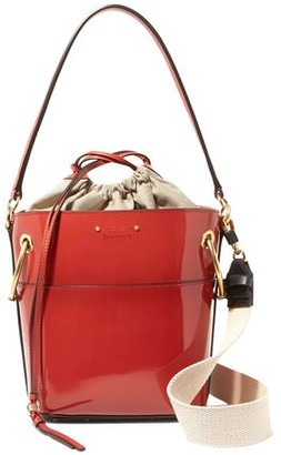 Chloé Roy Small Glossed-leather Bucket Bag