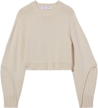 Proenza Schouler White Label Crop Wool & Cashmere Sweater