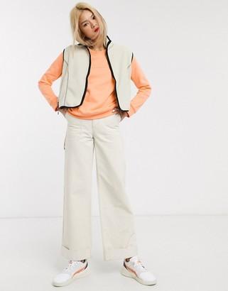 Columbia long sleeved logo crew neck in orange