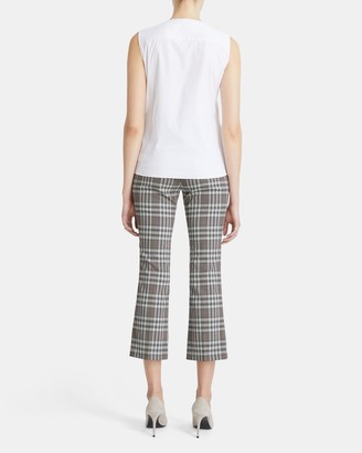 Theory Tie Front Shell Top in Good Cotton