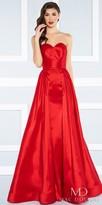 Mac Duggal Strapless Sweetheart A-line Overskirt Evening Dress