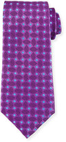 Charvet Woven Box Silk Tie, Purple
