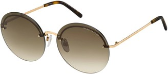 Marc Jacobs Rimless Round Stainless Steel Sunglasses