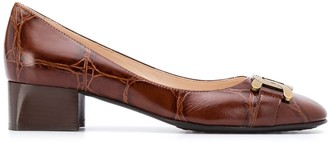 Tod's Square Toe Leather Pumps