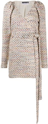 Rotate by Birger Christensen Checked Wrap Dress