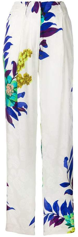 Etro floral print high-waisted trousers