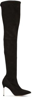 Sergio Rossi 90mm Godiva Stretch Suede Boots
