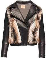 Chaser Faux Fur Moto Jacket