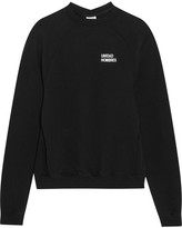 Vetements Oversized Embroidered Cotton-jersey Sweatshirt - Black