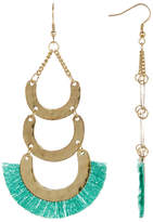 Jardin Turquoise Layered Fringe Dangle Earrings