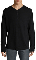 Gilded Age V-Neck Front Button Henley