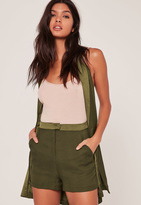 Missguided Satin Highwaisted Co Ord Shorts