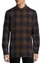 Helmut Lang Combo Plaid Shirt