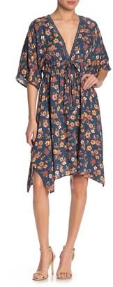 Luna Chix Dolman Sleeve Floral Midi Dress
