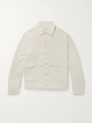 De Petrillo Linen Bomber Jacket