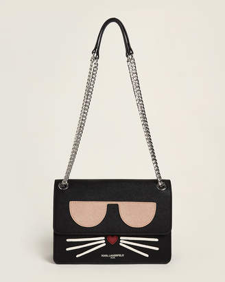 Karl Lagerfeld Paris Saffiano Design Shoulder Bag