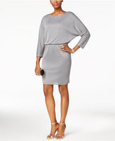 Nine West Metallic Blouson Sheath Dress