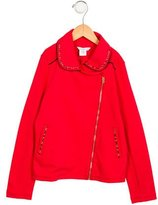 Little Marc Jacobs Girls' Embellished Zip-Up Cardigan w/ Tags