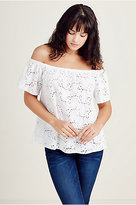 True Religion Off The Shoulder Womens Top