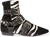Isabel Marant Rolling Zebra-print Calf Hair, Suede And Leather Ankle Boots - Zebra print