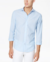 Tommy Hilfiger Men's Custom-Fit Meyers Striped Linen Blend Shirt