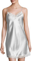 Neiman Marcus Silk Chemise with Lace
