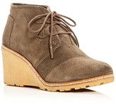 Toms Desert Wedge Lace Up Booties