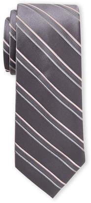 Michael Kors Grey Double Ribbed Stripe Tie