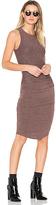 Riller & Fount Portia Midi Dress in Brown