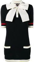 Gucci bow brooch knitted top - women - Cotton/Polyamide/Spandex/Elastane/Metallic Fibre - S