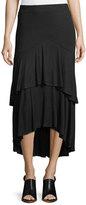 Kensie Tiered Jersey Midi Skirt