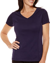 JCPenney Made For Life Short-Sleeve V-Neck Mesh T-Shirt