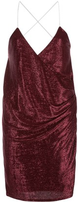 Mason by Michelle Mason Crystal-Strap Mini Dress
