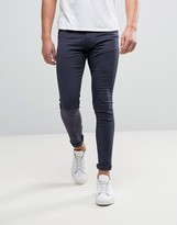 Kiomi Skinny Fit Jeans In Garment Dyed Denim